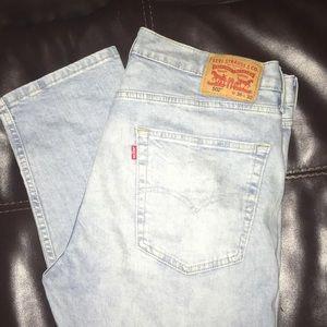 Levis 502 36x30 light blue jeans